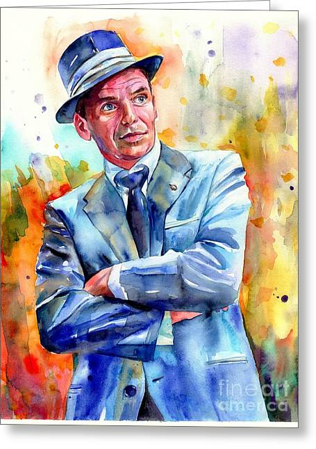Frank Sinatra Young Painting Greeting Card