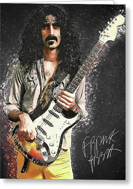 Frank Zappa Greeting Card