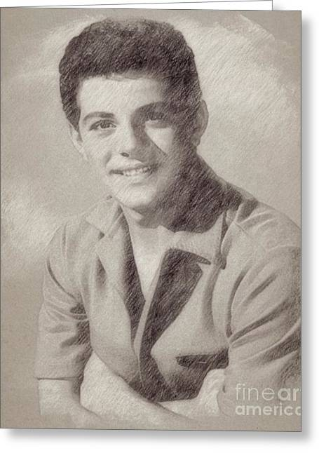 Frankie Avalon Singer Greeting Card