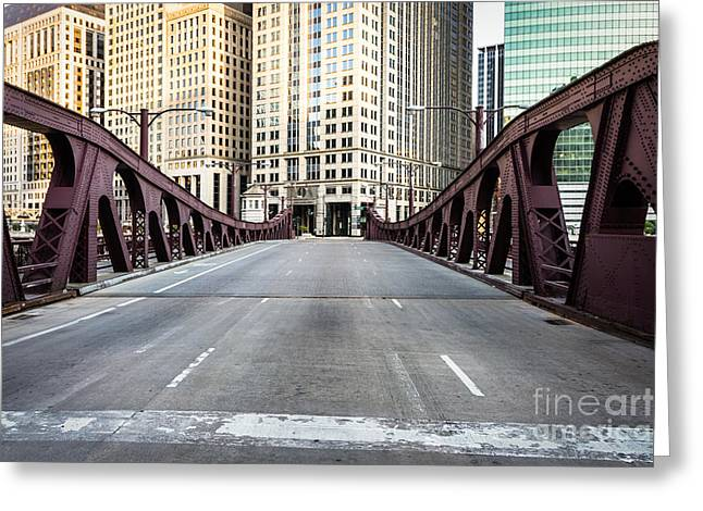 Franklin Orleans Street Bridge Chicago Loop Greeting Card by Paul Velgos