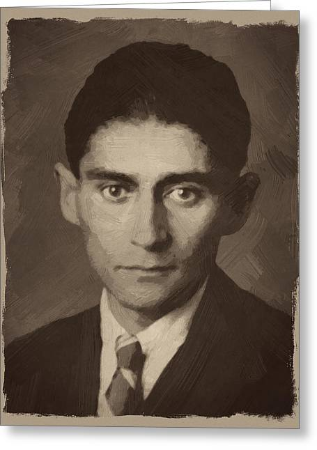 Franz Kafka Greeting Card by Afterdarkness