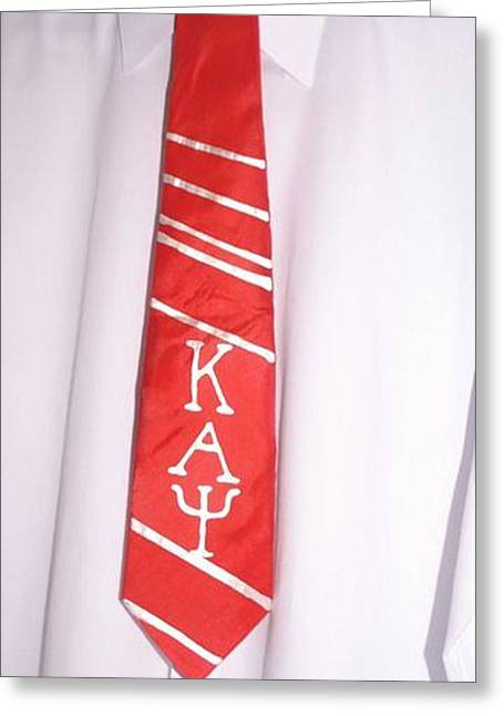 Fraternity Tie Greeting Card by Christine  Davis