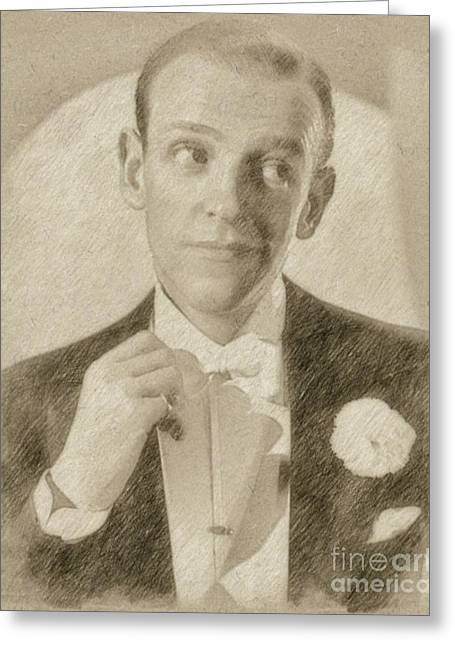 Fred Astaire Hollywood Legend Greeting Card by Frank Falcon