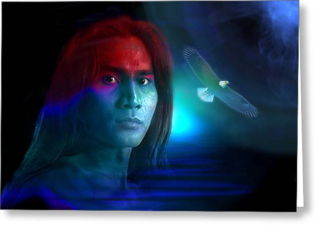Greeting Card featuring the digital art Free Spirit by Shadowlea Is