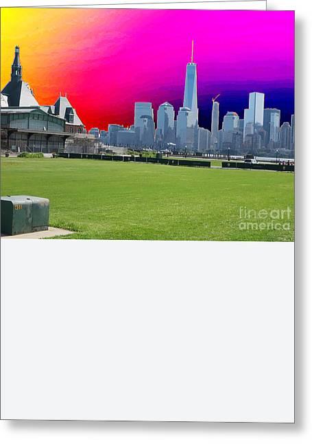 Freedom Tower Formerly World Trade  Centre Wtc New York Photo Taken On July 4 2015 Usa America's Bir Greeting Card by Navin Joshi
