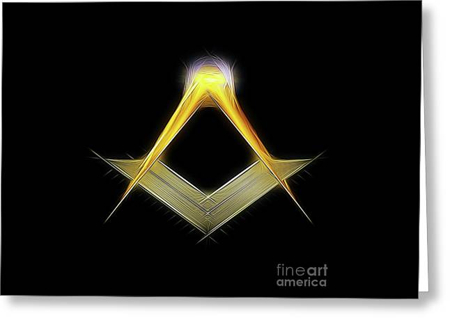 Freemason Symbol By Raphael Terra Greeting Card by Raphael Terra