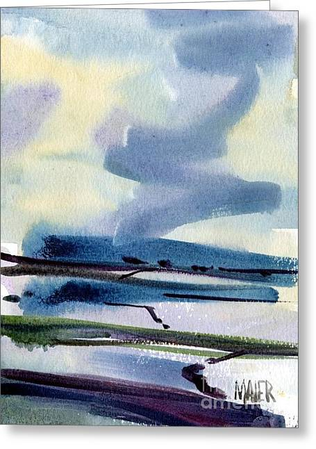 Fremont Salt Pans Greeting Card by Donald Maier
