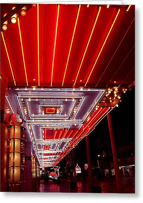 Fremont Street Las Vegas Greeting Card by Bill Buth