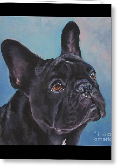 Greeting Card featuring the painting French Bulldog by Lee Ann Shepard