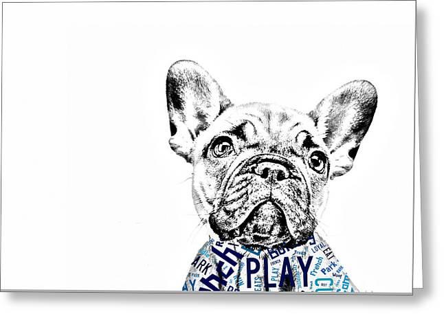 French Bulldog Portrait Greeting Card