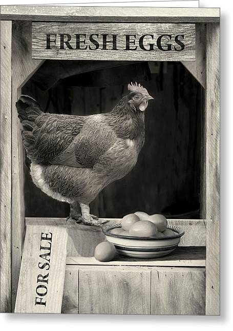 Greeting Card featuring the photograph Fresh Eggs by Robin-Lee Vieira