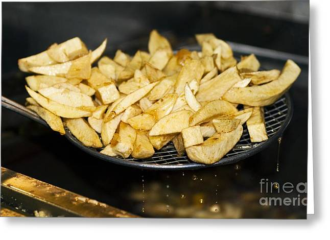 Fried Potato Chips Greeting Card by Martyn F. Chillmaid