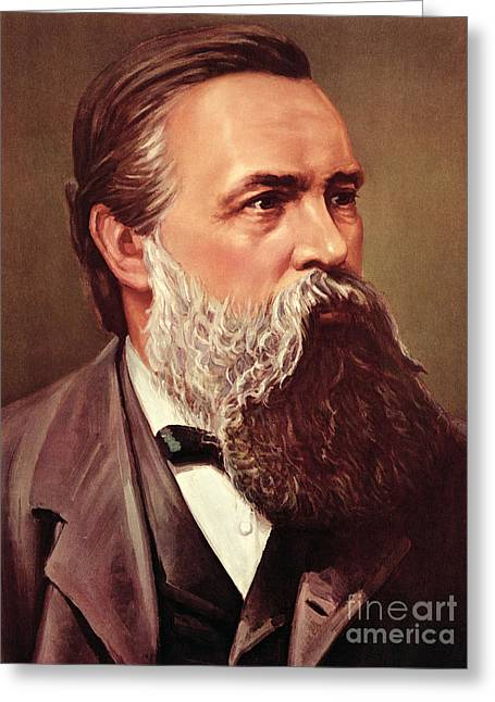 Friedrich Engels Greeting Card by German School