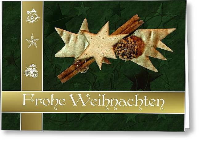 Frohe Weihnachten Greeting Card by Cco