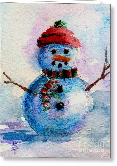Frosty Aceo Greeting Card by Brenda Thour