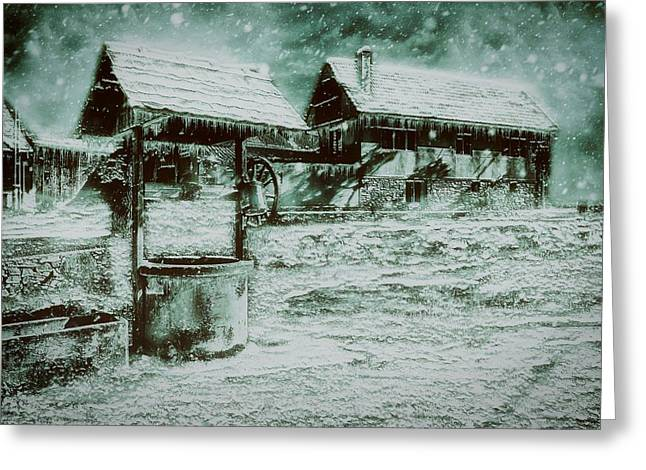Frozen Farm Greeting Card