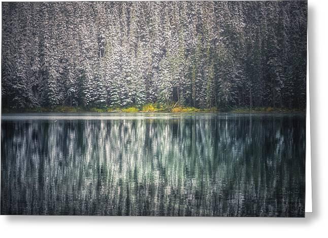 Frozen Joffre Lake    Greeting Card