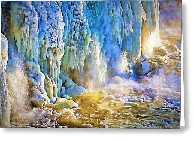 Frozen Waterfall Greeting Card