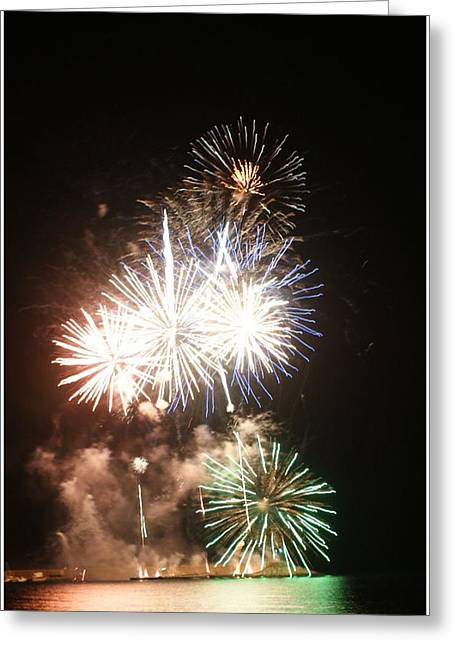 Fuegos Artificiales Greeting Card by Stacy Spencer-Barclay