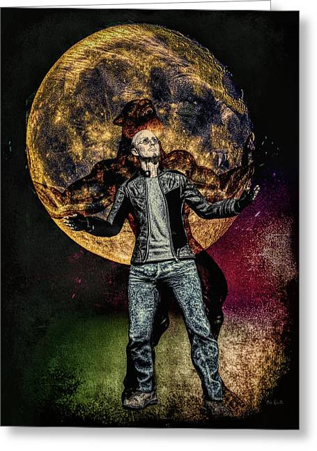 Full Moon Greeting Card by Bob Orsillo