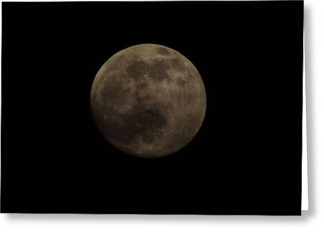 Full Moon Greeting Card by Thomas  MacPherson Jr