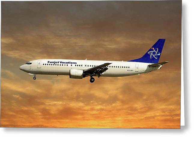 Funjet Vacations Boeing 737-400 Greeting Card