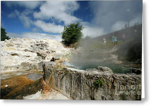 Furnas Hot Springs Greeting Card by Gaspar Avila
