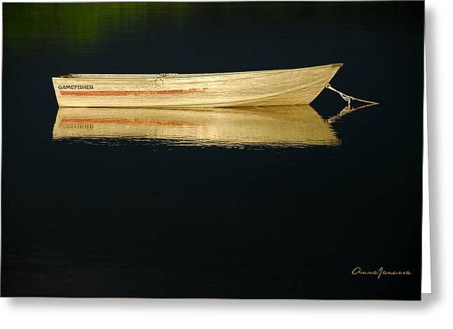 Greeting Card featuring the photograph Gamefisher by AnnaJanessa PhotoArt