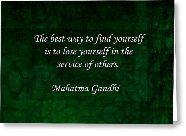 Gandhi Inspirational Quote About Self-help Greeting Card