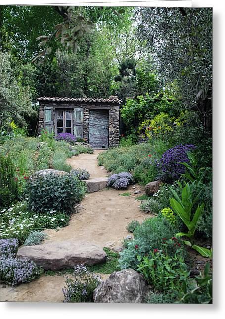 Garden Cottage Greeting Card