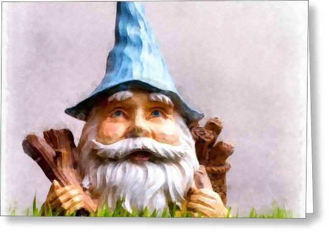 Garden Gnome Greeting Card