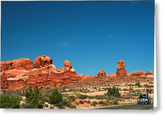 Garden Of Eden Rock Formations, Arches National Park, Moab Utah  Greeting Card