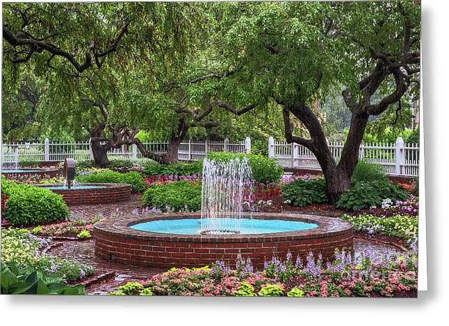 Greeting Card featuring the photograph Gardens At Prescott Park by Sharon Seaward