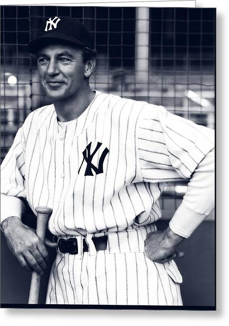 Gary Cooper As Lou Gehrig In Pride Of The Yankees 1942 Greeting Card by Mountain Dreams