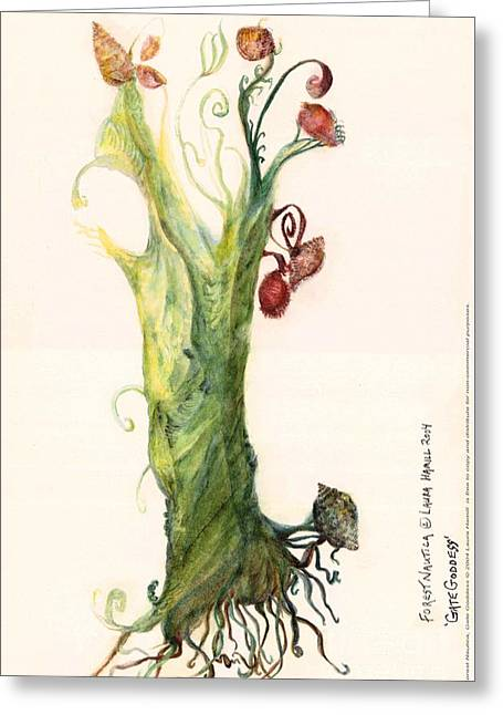 Gate Goddess Of Forest Nautica Greeting Card