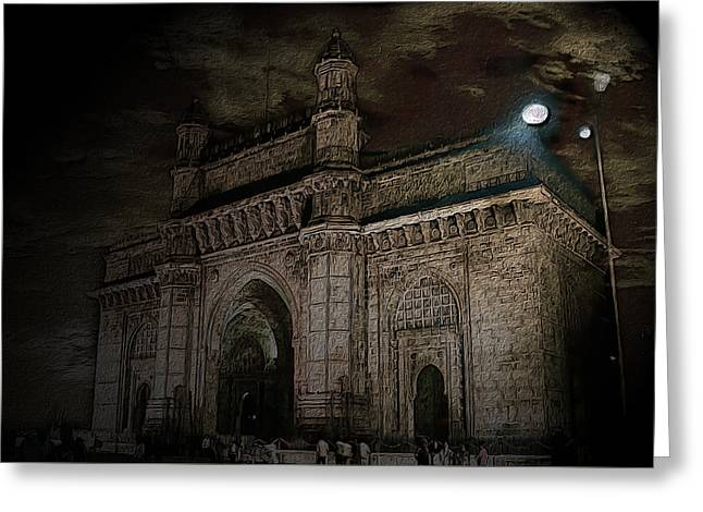 Gate Way Of India Greeting Card by Manjot Singh Sachdeva