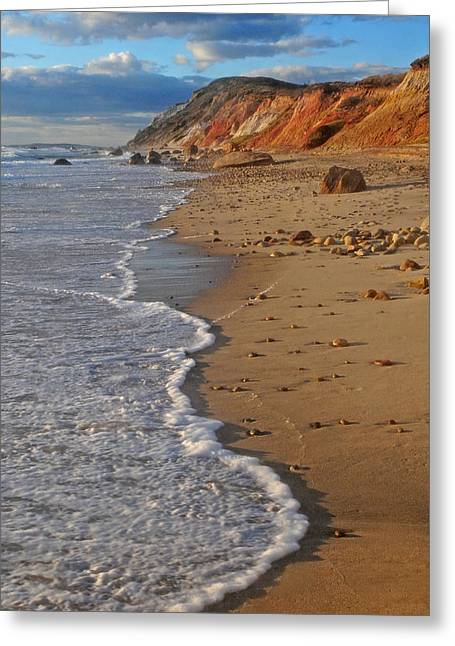 Gayhead Cliffs Marthas Vineyard Greeting Card
