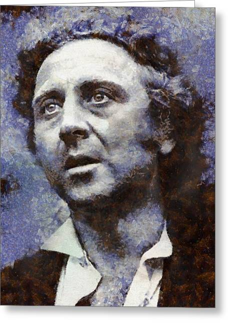 Gene Wilder Hollywood Actor Greeting Card by Esoterica Art Agency