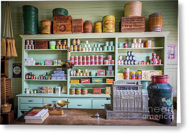 General Store Greeting Card by Inge Johnsson