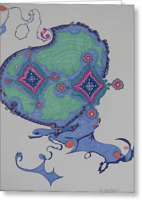 Genie Greeting Card by James Sheppardiii