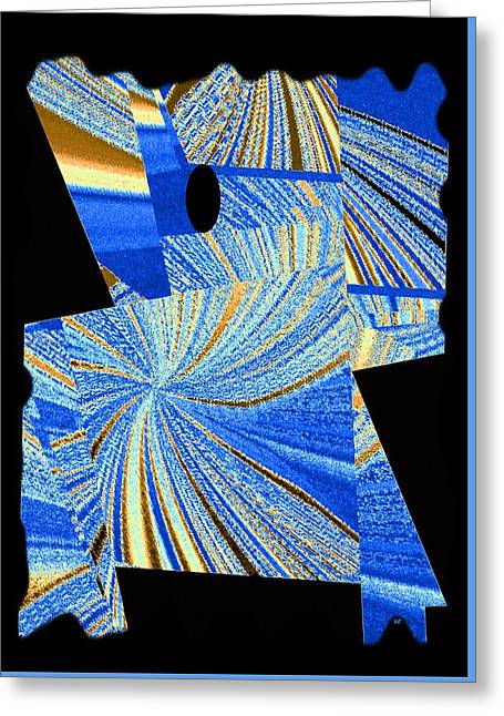 Geometric Abstract 2 Greeting Card by Will Borden