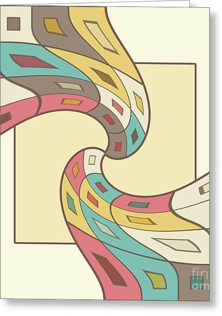Geometric Abstract Greeting Card by Gaspar Avila