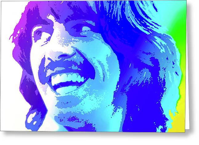 George Harrison Greeting Card by Greg Joens