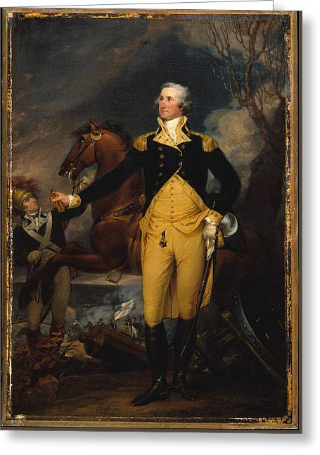 George Washington Before The Battle Of Trenton Greeting Card