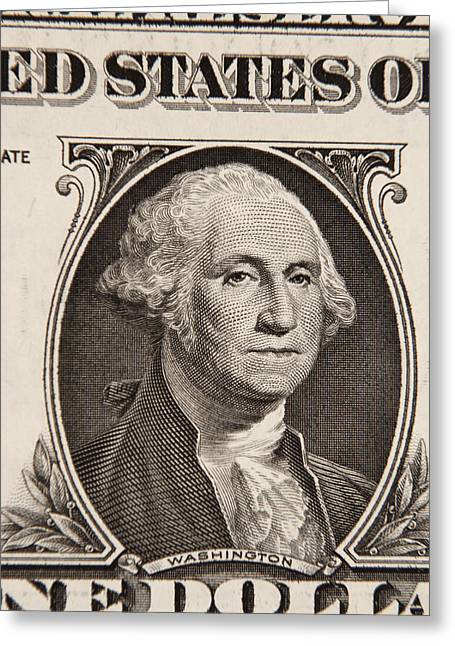 George Washington Greeting Card by Les Cunliffe