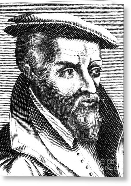 Georgius Agricola, German Scholar Greeting Card by Science Source