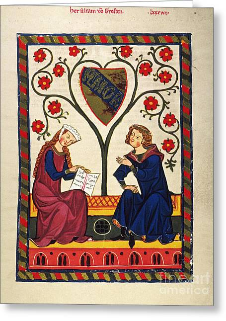 German Minnesinger 14th C Greeting Card
