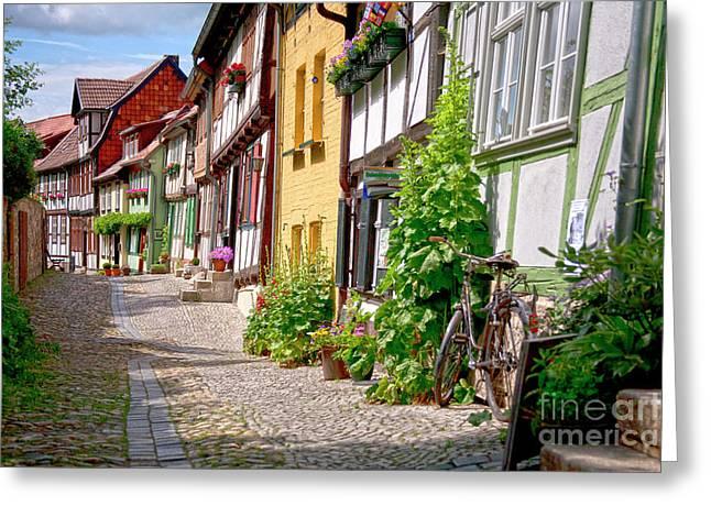 German Old Village Quedlinburg Greeting Card