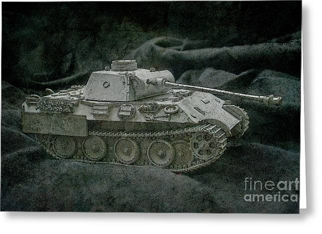 German Panther Tank Greeting Card by Randy Steele
