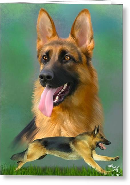 German Shepherd Breed Art Greeting Card